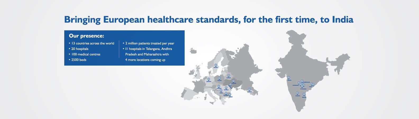 Bringing European Healthcare Standards for the first time to India